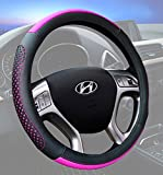 Car Steering Wheel Cover 15 Inch Microfiber Leather Universal Fashion Breathable Anti Slip Purple
