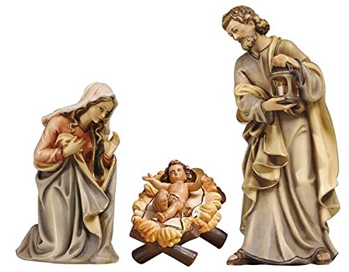 15 Piece PEMA Nativity Set 5 in. Scale, Italian Hand Carved Wood