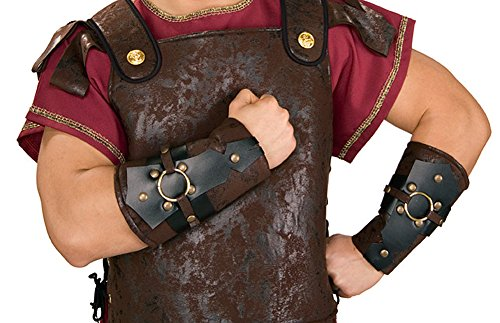 [Adult Roman Spartan Bracers Warrior Arm Guards] (Mens Trojan Costume)