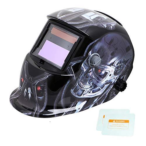 Tekware Welding Helmet Solar Power Auto Darkening Hood Welder Mask Breathable Grinding Helmets with Adjustable Shade Range