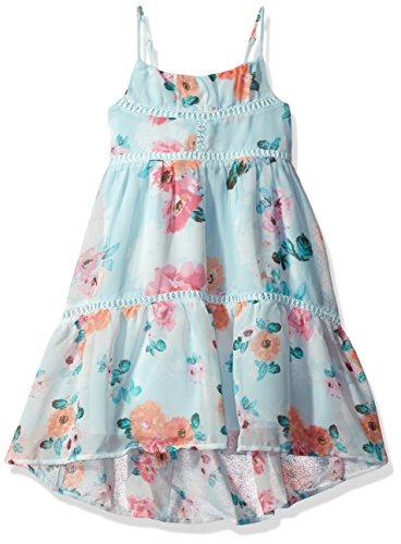 The Children's Place Big Girls' Floral Dress, Crystalmnt, S (5/6)
