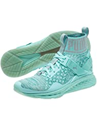 Puma Womens Ignite Evoknit Easter Running Shoes - Aruba Blue-Quarry