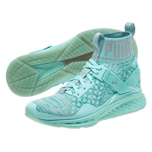 Puma Womens Ignite Evoknit Easter Running Shoes - Aruba Blue-Quarry Size 10
