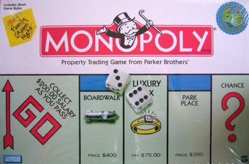 Parker Brothers Monopoly Rules - Monopoly 65th Anniversary by Parker Brothers