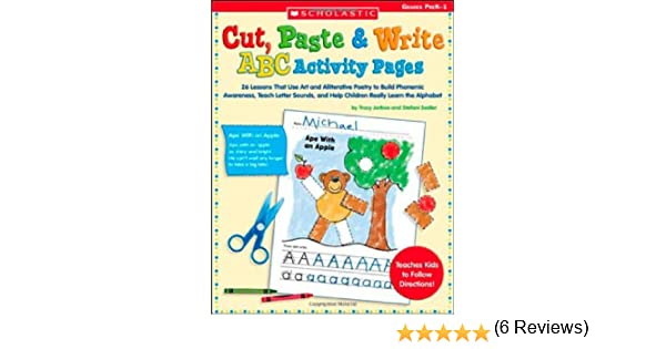 Workbook cutting worksheets : Amazon.com: Cut, Paste & Write ABC Activity Pages: 26 Lessons That ...