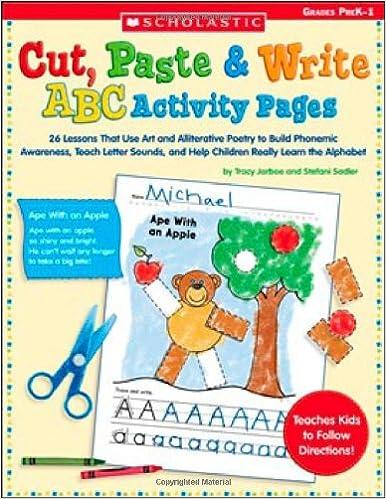 Amazon.com: Cut, Paste & Write ABC Activity Pages: 26 Lessons That ...