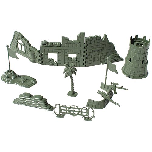 George Jimmy Toy Gifts Toy Soldiers/Cars/Trucks/Tractors/Toy Guns Models -11 PCS - Bunker Tower
