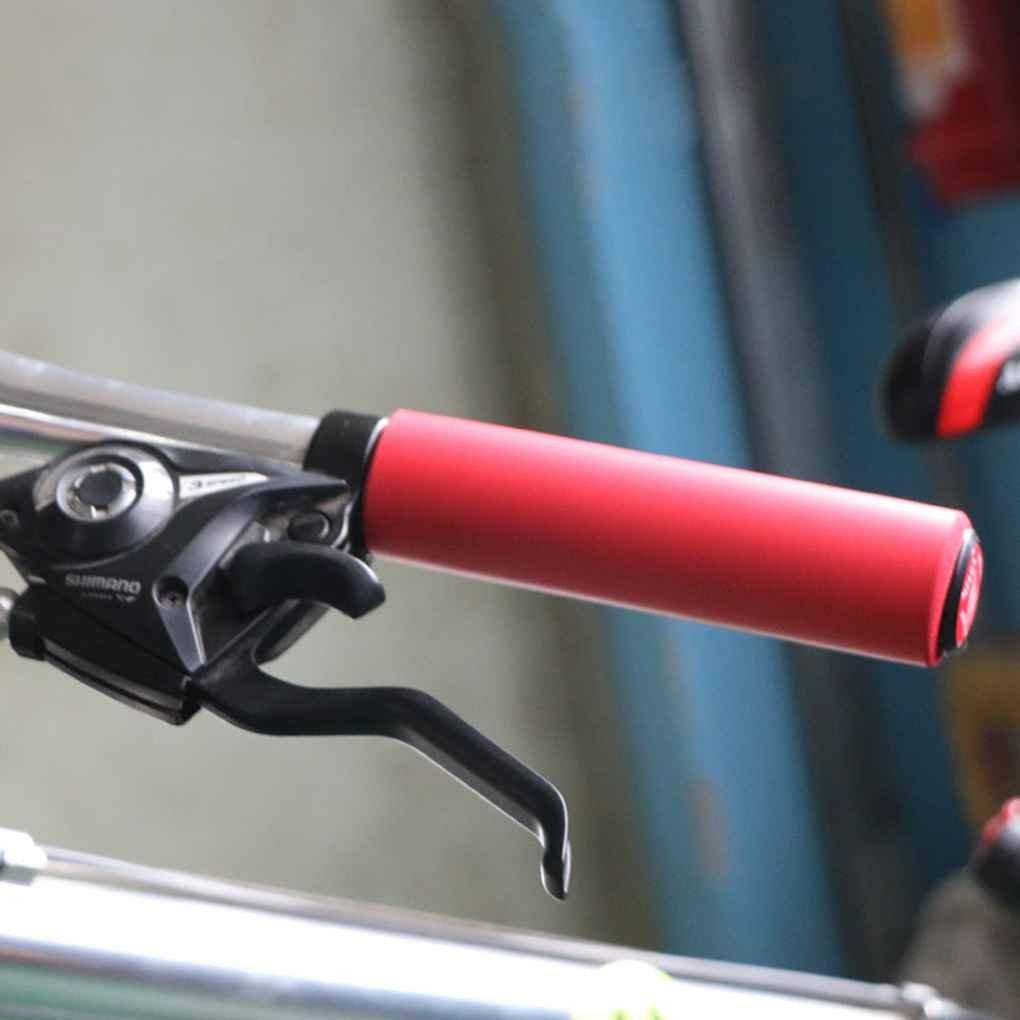 Luckilytop Monta/ña de Silicona para Bicicleta Ciclismo apretones pu/ño del Manillar Pu/ños Tapones Manillar