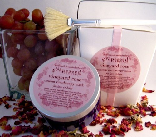 Vineyards Rose - Facial Mask - Vineyard Rose Custom Vinotherapy Mask for Face & Body By the Grapeseed Co