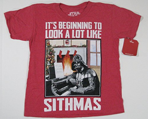 Lucas Films Star Wars Darth Vader Sithmas Short Sleeve T-Shirt Youth Small