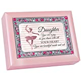 Cottage Garden Daughter Dance With Your Heart Jeweled Pink Keepsake Music Box Plays You Light Up My Life