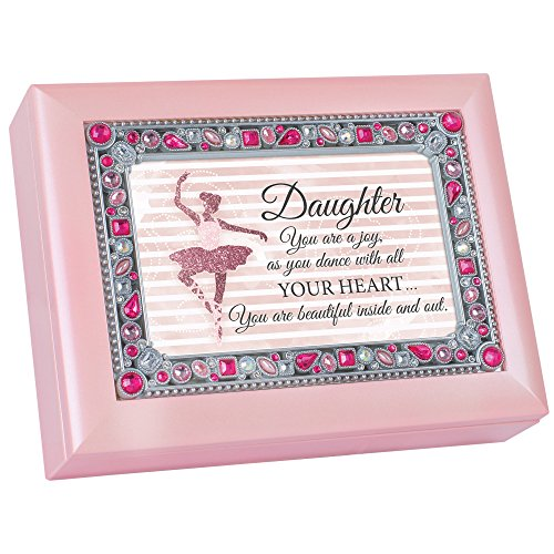 Cottage Garden Daughter Dance With Your Heart Jeweled Pink Keepsake Music Box Plays You Light Up My Life by Cottage Garden