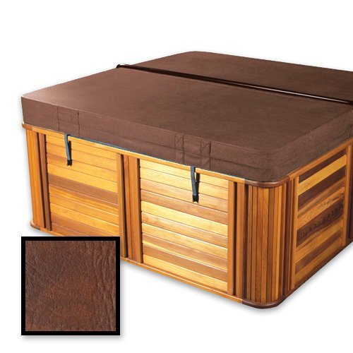 The Cover Guy Deluxe 5'' Foam with Upgrade Vapor Barrier Replacement Hot Tub Spa Cover Jacuzzi 91x91x10'' radius corners - Brown by The Cover Guy
