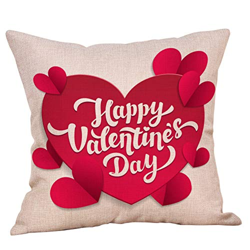 callm Happy Valentine's Day Throw Pillow Covers Romantic Gift Love Quotes Cushion Cases Decorative for Couch Sofa 18