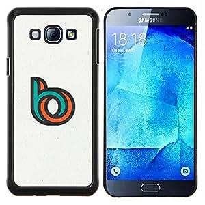 TECHCASE---Cubierta de la caja de protección para la piel dura ** Samsung Galaxy A8 ( A8000 ) ** --BO BB