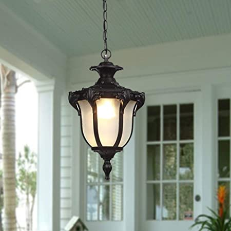 Yamila Antique Copper Glass Lantern Flush Mount Chandelier Clear