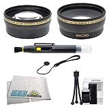 Wireless Remote Control + 57'' Tripod For Nikon D3000, D3200, D3300, D3400, D5000, D5100, D5200, D5300, D5500, D40, D40X, D50, D60, D600, D610, D70, D70s, D80, D800, D800E, D810, D810A, D90, D7000, D7100, D7200, 1 J1, 1 J2, 1 V1, 1 V2, 1 V3, COOLPIX A, P70