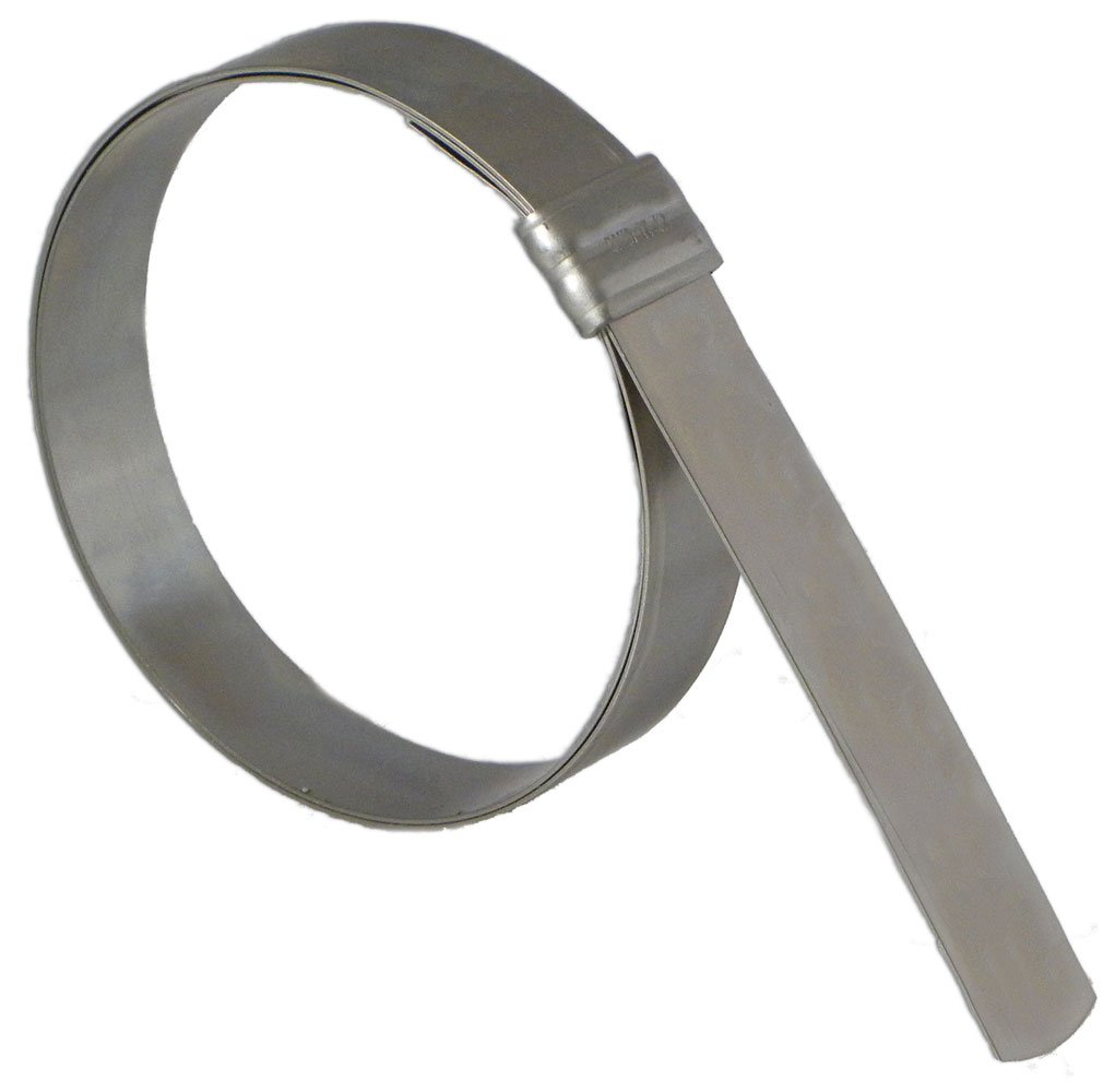 BAND-IT JS3129 Junior 3/4'' Wide x 0.030'' Thick, 3-1/2'' Diameter, Galvanized Carbon Steel Smooth I.D. Clamp (50 Per Box) by Band-It