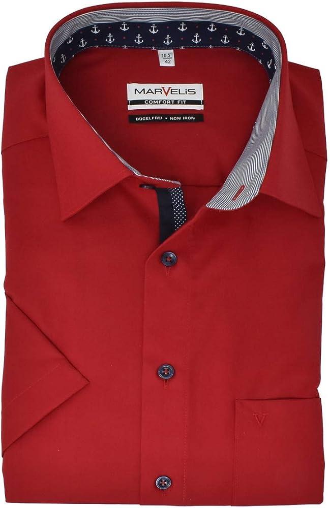 Marvelis Comfort Fit 7108.52.31 - Camisa de manga corta, color rojo rojo 41: Amazon.es: Ropa y accesorios