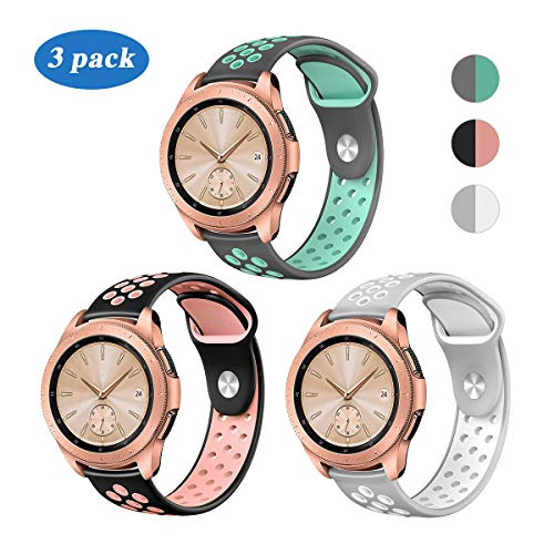 YiJYi Compatible for Samsung Galaxy Watch 42mm Band/Galaxy Watch Active 40mm Bands, 20mm Silicone Strap Sports Replacement Wristband Women Men for Samsung Galaxy Watch (Small(5.5