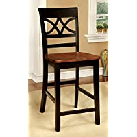 247SHOPATHOME Idf-3552BC-PC Dining-Chairs, Black and Cherry