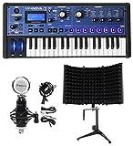 Novation MiniNova 37-Key USB MIDI Keyboard Synthesizer+Mic+Foam Isolation Shield