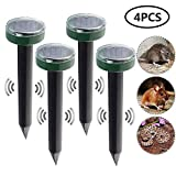 Mole Repellent, leegoal Solar Powered Waterproof Mole Repeller Sonic Spike - Vole Chaser