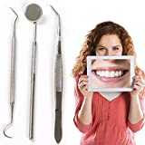 3pcs Stainless Dental Tool Set Kit Teeth Clean Hygiene Picks Mirror by Best Dental