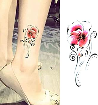 Oottati 15 Hojas Pequeñas Cute Tatuajes Temporales Flor Plumas ...