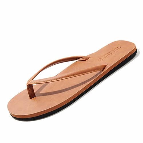 ZGSR-F Zapatillas De Deporte Antideslizantes De Verano para Hombres, Chanclas, Marrones, 35EU: Amazon.es: Zapatos y complementos