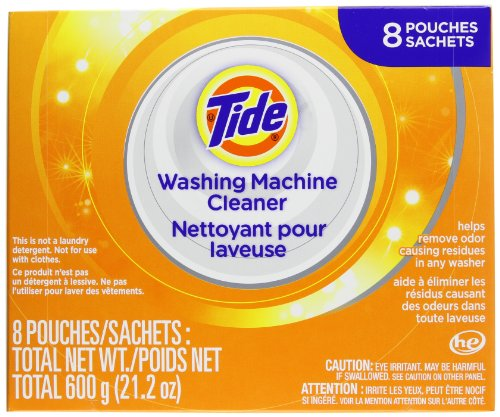 Tide Washing Machine Cleaner 8 sachets - 21.2oz (Clothes Washing Machine Cleaner compare prices)