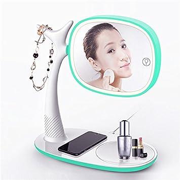 Amazon.com: Ul Cargador inalámbrico Qi espejo de maquillaje ...