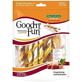 Amazon.com : Good 'N' Fun Triple Flavor Twist Chews For