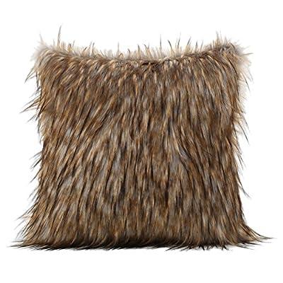 Ellison Decorative Faux Fur Fabric Throw Pillow