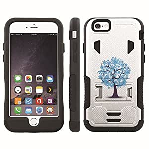 [ArmorXtreme] Hybrid Rugged Armor Design Image Protect Case With Kickstand (Tree Blue) for Iphone 6 Plus (5.5)