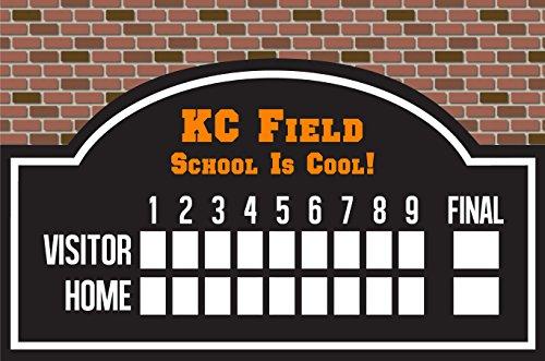 Custom Printed Personalized Dry Erase Wiffleball/Baseball Scoreboard by RAP&F