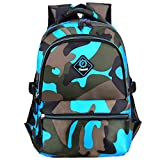 Macbag School Backpack Casual Daypack Travel Outdoor Camouflage Backpack for Boys and Girls (Camouflage Blue 3)
