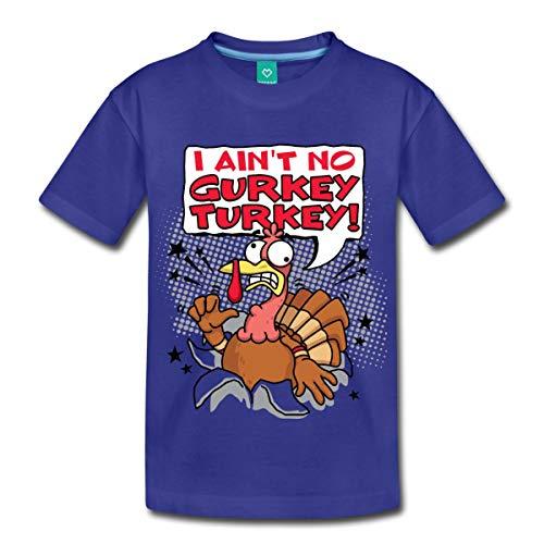 FGTeeV I Ain't No Gurkey Turkey Kids' Premium T-Shirt, Youth S, Royal - Merch For Kids Toys Fgteev