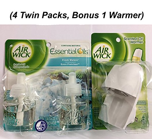 Air Wick Scented Oil Twin Refill Fresh Waters (2X.67) Oz. (Pack of 8)