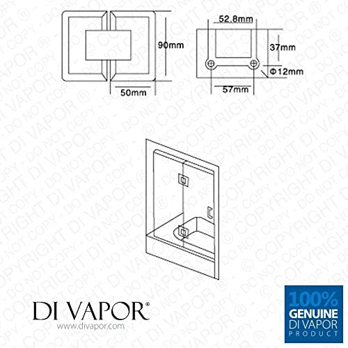 Di Vapor R 180 Grad Duschtürscharnier Glas An Glas Verchromt Kegelförmig Baumarkt