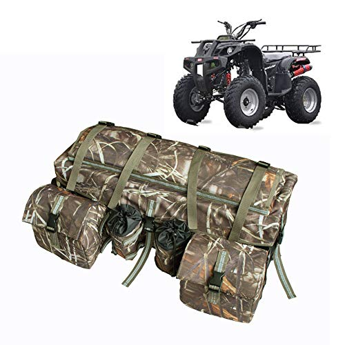 COCO Tec ATV Cargo Bag,Rear Rack Storage Gear Bag with Topside Bungee Tie-Down Storage Padded-Bottom, Waterproof, Heavy Duty(Camouflage)