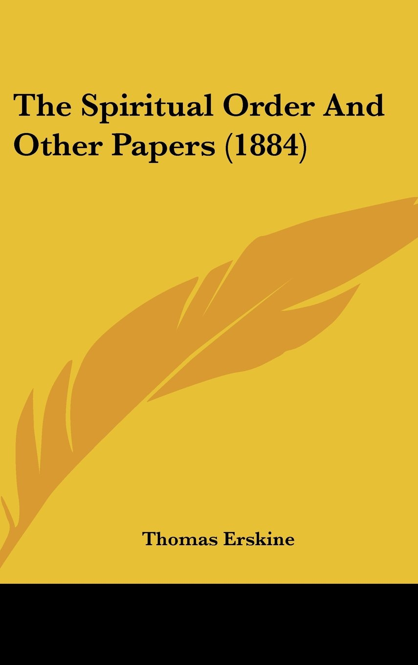 Download The Spiritual Order and Other Papers (1884) pdf epub