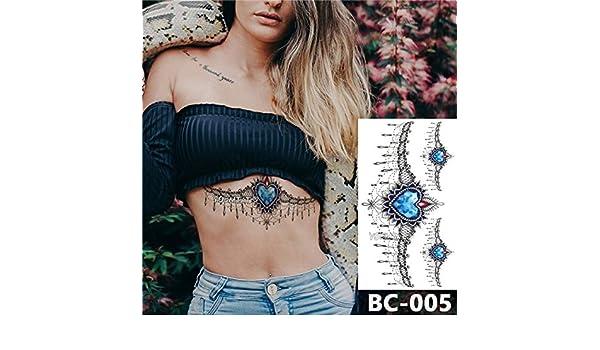 adgkitb 3 Piezas Tatuaje en el Pecho Tatuaje Temporal a Prueba de ...
