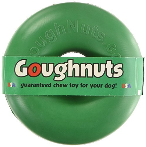 (Goughnuts - Rubber Dog Chew Toy Med .75, Green,)