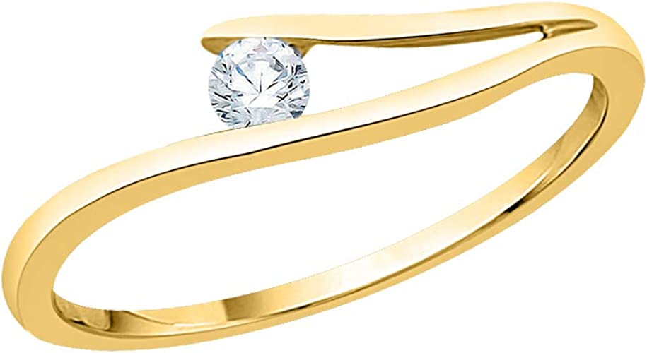 1//10 cttw, G-H,I2-I3 Size-3.25 Diamond Wedding Band in 10K Yellow Gold