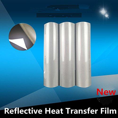 HOHO Reflective Silver Heat Transfer Vinyl Iron-on Tshirt Press Film HTV 50cmx100cm
