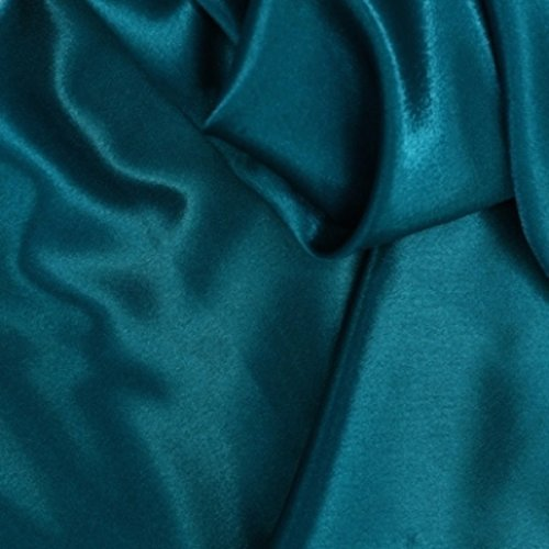 Charmeuse Bridal Satin Teal Fabric 60 Inches By the Yard