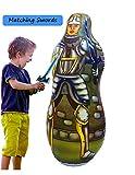 Inflatable Punching Bag & Foam Sword Set   One