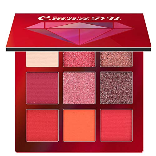 VICCKI Cosmetic Matte Eyeshadow Cream Makeup Palette Shimmer Set 9 Colors Eyeshadow