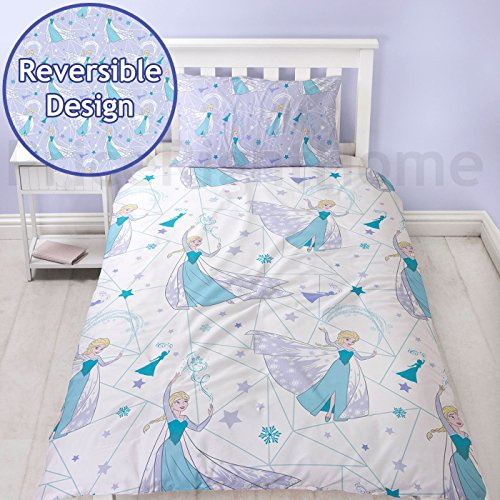 Disney Frozen Icicle UK Single/US Twin Unfilled Duvet Cover and Pillowcase Set